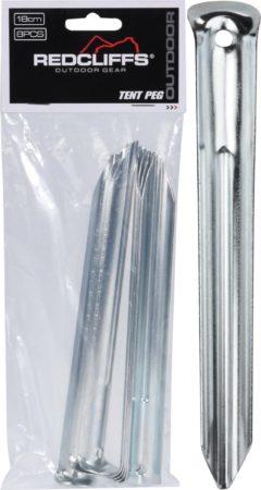 Afbeelding van Zilveren Redcliffs Outdoor Tentharingen Half Rond 18cm 8 Stuks