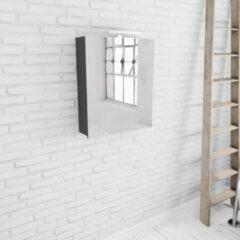 Zaro Beam spiegelkast antraciet 60x70x16cm 1 deur