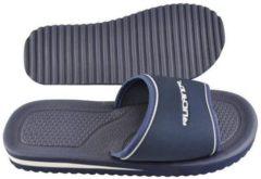 Donkerblauwe Rucanor badslippers Santorini unisex donkerblauw maat 45