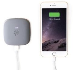 ZENS Portable Power Pack Black 3000 mAh - Wirelessly Rechargeable (ZEPP01G/00)