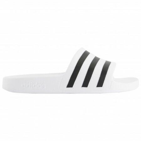 Afbeelding van Witte Adidas Adilette Aqua Unisex Slippers - Ftwr White/Core Black - Maat 43