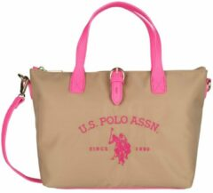 US Polo Assn US POLO PATTERSON FLUO Tas Dames - Beige / Roze