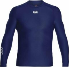Marineblauwe Canterbury Thermoreg LS Top - Thermoshirt - blauw donker - XL