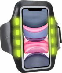 Zwarte Sport Armband Sportband Hardlopen met LED Verlichting voor iPhone 11 / 11 Pro Max / 11 Pro / XR / XS Max / XS / X / Samsung Galaxy A50 / A70 / A40 / A20e / A10 / S10 / S10e / S10 Plus