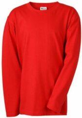 James & Nicholson James and Nicholson Kinderen/Kinderen T-Shirt met middellange mouwen en lange mouwen (Rood)
