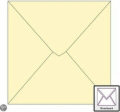 Creme witte Benza Wenskaart Enveloppen - Vierkant 14 x 14 cm - Crème - 50 stuks