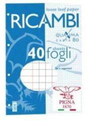 RICAMBI MAXI QUAXIMA 80gr 40 FF Q QUADRETTI 5MM CON MARGINE