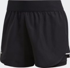 Zwarte Adidas Club Short Sportbroek Dames - Black - Maat XS