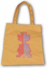 Anha'Lore Designs - Clown - Exclusieve handgemaakte tote bag - Okergeel
