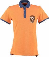 Black and gold oranje polo - Maat L