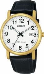 Lorus RG836CX9 Herenhorloge Goudkleurig-Leder 37,5 mm