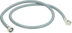 WPRO Zulaufschlauch gerade/Winkel 1,5m 90°C (Endstücke: gerade/gewinkelt, 90 bar Platzdruck, 90°C Warmwasser) für Geschirrspüler und Waschmaschinen 481953028927
