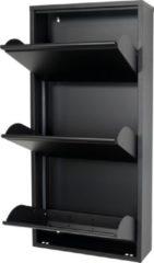 Zwarte Spinder Design Billy Schoenenkast Zwart - 3 Vakken