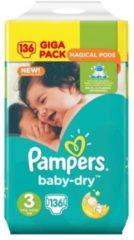Pampers Baby Dry Maat-3 Midi 5-9kg Gigapack 136-Luiers