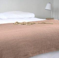 Town & Country Bedsprei Denver Stonewash Oud Roze 1 Persoons Bedsprei 180 X 260 Cm