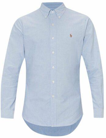 Afbeelding van Lichtblauwe Overhemd Ralph Lauren slim fit blue oxford Small