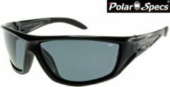 Zwarte Polar Specs® Polariserende Zonnebril Vortex Sport PS9052 – Black – Polarized Black – Medium – Unisex