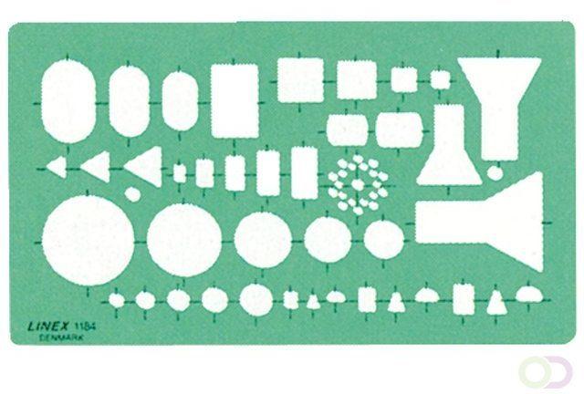 Afbeelding van Bruna Sjabloon Linex 1184 elektro symbolen