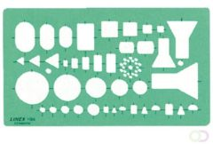 Bruna Sjabloon Linex 1184 elektro symbolen