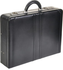 Zwarte Dermata Business Leather Attaché zwart