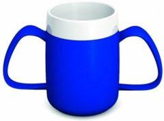 Blauwe Adhome Isolerende beker met ergonomisch handvat 220 ml -2 handvatten- blauw