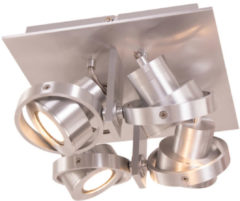 Zilveren Home24 LED-plafondlamp Quatro II, Steinhauer