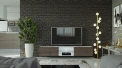 Maxima House VIGO II Zwevend TV Meubel inclusief LED - TV Meubel Wit / Beach - TV Kast Meubel - Modern Design - 30x180x40 cm