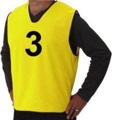Pirotti Set overgooiers met nummers - geel - maat S - trainingshesjes
