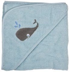 Pippi - baby badcape - blauw - Maat One Size (83 x 83 cm)