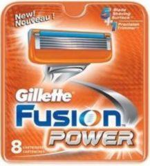 Oranje Gillette Fusion Power - 8 stuks - Scheermesjes