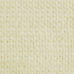 Creme witte VidaXL Zonnescherm HDPE driehoekig 3.6x3.6x3.6 m crème