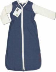 Marineblauwe With a touch of Rose - Slaapzak met mouwen – Navy - 0 tot 6 maanden - Biologisch katoen – Fairtrade
