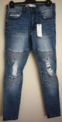 Blauwe Nena & Pasadena Biker Jeans - Hydro Blue 32- maat