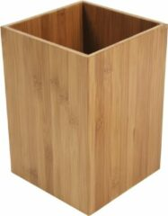 4goodz Bamboo afvalbakje 7,5 liter vierkant bamboe - Bruin