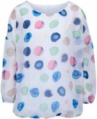 Grijze Gedessineerde blouse