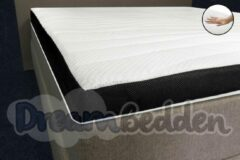 Witte Dreambedden Topper 70x190 Latex 8 cm Dik Excellent Bamboo Hoes