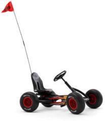 Zwarte BERG Buddy fietsvlag met houder 160 cm kunststof