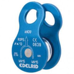 Blauwe Edelrid Turn compacte enkele katrol