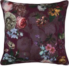Bordeauxrode ESSENZA Fleur Sierkussen Vierkant Burgundy - 50x50 cm