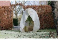 Nature - Wintertuin - Beschermhoes - Voor planten en struiken met rits - Beige - Diameter 150cm x Hoogte 2m