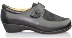 Zwarte Klassieke Schoenen Calzamedi SCHOENEN ELASTISCHE SCHOENEN VROUWEN