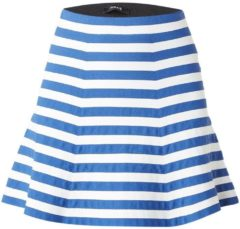 Blauwe Nikkie Skylar fijngebreide A-lijn rok met streepdessin