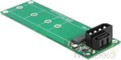 Groene DeLOCK 62553 SATA 22p, 4p Molex 67p M.2 NGFF Groen kabeladapter/verloopstukje