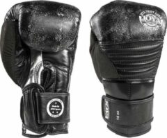 Zilveren Joya Fight Gear Joya Fightgear - leren bokshandschoenen - 'Silver Falcon' - 16oz