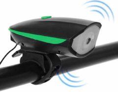Merkloos / Sans marque Fietsbel met Licht – Multifunctionele Fietsbel - Fietsbel met LED Verlichting – 2 in 1 Fietsbel - Groen