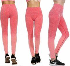 Fitness/Yoga legging - Fitness legging - LOUZIR sport legging Stretch - squat proof - OMBRE Rood Maat L