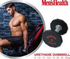 Zwarte Men's Health Urethane Dumbbell 25 kg - Crossfit - Oefeningen - Fitness gemakkelijk thuis - Fitnessaccessoire