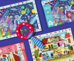 MiDeer - Detective in de kamer - Extra grote en dikke 42 puzzelstukjes - Vergrootglas - Puzzel in een mooie geschenkdoos - Kinderpuzzel - Educatief speelgoed voor kinderen - Puzzel voor Peuter vanaf 3 jaar