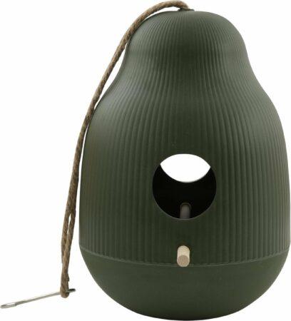 Afbeelding van Point-Virgule - Vogelhuisje - Nestkastje tuinvogels - Jagersgroen - ø18cm H25cm