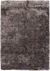 Diamond Soft Rond Fluweel Vloerkleed Bruin Hoogpolig- 120 CM Rond